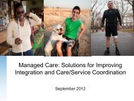 Managed Care: Solutions for Improving Integration and Care ...
