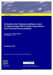 Evaluation des finances publiques selon la méthodologie PEFA ...