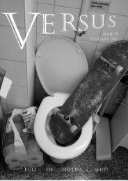 versus skateboard fanzine & plus #59 janvier 2011