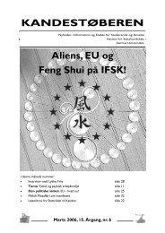 Kandestøberen, 15. årg., nr. 6 - Institut for Statskundskab - Aarhus ...