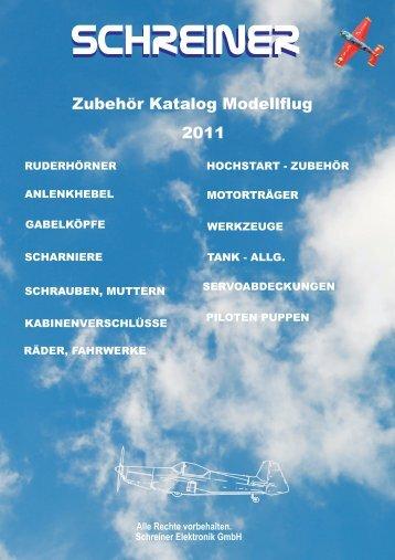 Zubehör Katalog 2011 - Schreiner-Modellbau.de