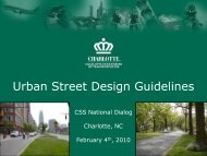 Urban Street Design Guidelines - (CSS) National Dialog 2