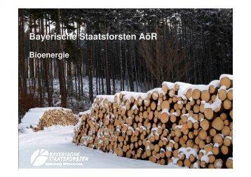 Bayerische Staatsforsten AöR - Energie-Netzwerk HochFranken