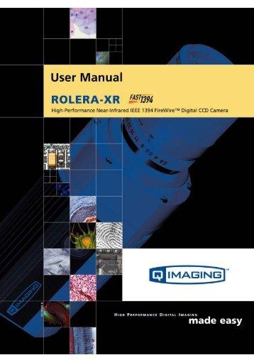 Rolera-XR User's Manual - QImaging