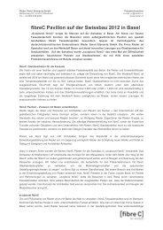 PT fibreC auf der Swissbau 2012 - Gasser Fassadentechnik AG