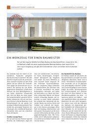 eIn WerKZeUG Für eInen BaUMeISter - Gasser Fassadentechnik AG