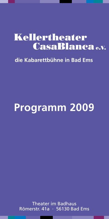 Programm 2009 - Kabarett CasaBlanca