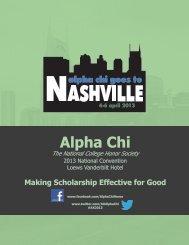 2013 National Convention Program - Alpha Chi
