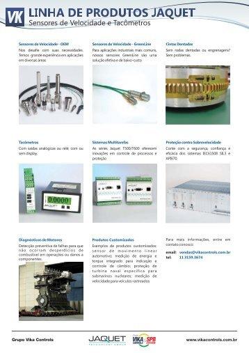 Linha de Produtos - Jaquet - Vika Controls