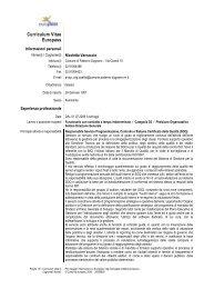 Curriculum Vitae Europass - Sito Istituzionale del Comune di ...