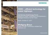 HVDC – efficient technology for power highways Wolfgang Braun