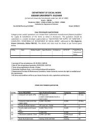 Institutional Biosafety Committee(IBSC) - Assam University