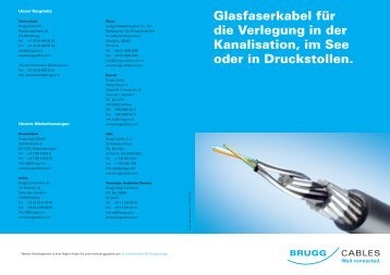 Download Glasfaserkabel für Kanalisation, im ... - bei Brugg Cables