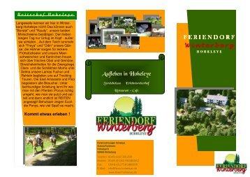 Unser Hausprospekt - Ferienwohnungen, Feriendorf in Winterberg ...