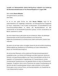 Laudatio von Staatssekretärin Almuth Nehring-Venus ... - FCZB