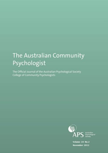 issue 2 12 b - APS Member Groups - Australian Psychological Society