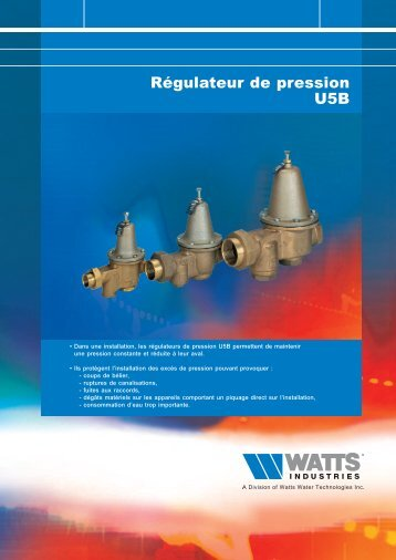 Régulateur de pression U5B - Watts Industries