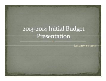 Jan. 23, 2013 BOE Budget Presentation (PDF) - Marcellus Central ...
