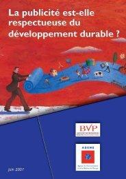 La publicité est-elle respectueuse du développement durable - Ademe