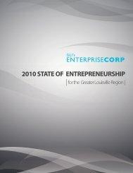 2010 State of Entrepreneurship Report - Greater Louisville Inc