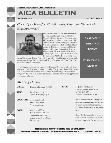 february 2009 - the Arizona Insurance Claims Association