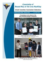 Mary MacKillop Schools Committee Bulletin - 15 October 2010