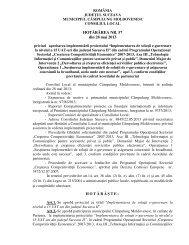 Implementarea de soluţii e-guvernare la nivelul a 15 UAT-uri