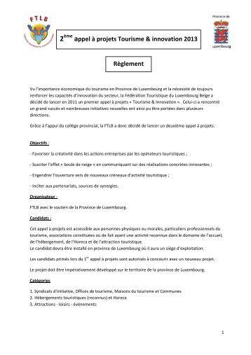 Tourisme & innovation - Accueil - Fédération touristique du ...