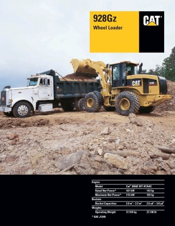 Specalog for 928Gz Wheel Loader, AEHQ5611_01, 10350204.qxd