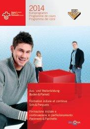 Kursprogramm 2014 Boden & Parkett - parkett-verband.ch