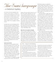 The Sami language - Department of Scandinavian Studies