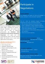 Participate in Negotiations - Singapore Institute of Retail Studies