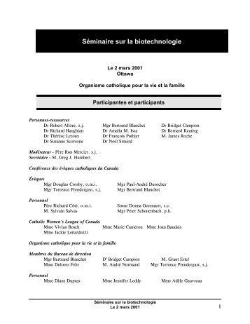 le rapport - Conférence des évêques catholiques du Canada