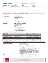 Sikkerhedsdatablad Produktnavn : KONTAKT PCC PR ... - Elfa