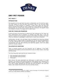 DRY PET FOODS - Denes Natural Pet Care