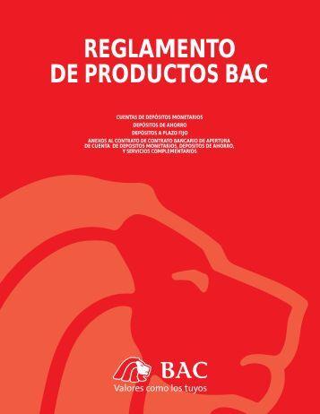 REGLAMENTO DE PRODUCTOS BAC - Credomatic