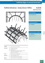 Podhled obloukový 1x Riflex 6 bez izolace - Rigips