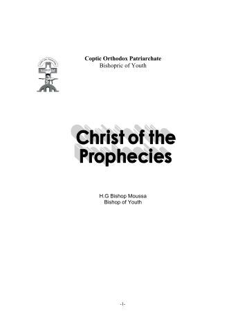 Coptic Orthodox Patriarchate Bishopric of Youth - Saint Mary ...