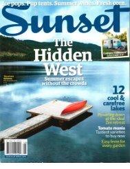 Sunset magazine - Columbia Hospitality