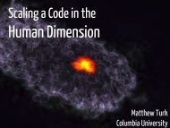 Scaling a Code in the Human Dimension - XSEDE
