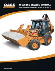 M SERIES 3 LOADER / BACKHOES - Case Construction