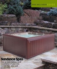 How to make delivery and installation of your new ... - Sundance Spas