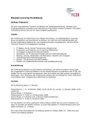 Blended-Learning-Fortbildung Online-Trainerin - FCZB