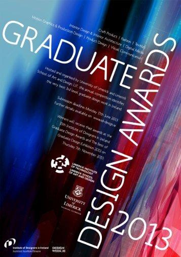 GRADUATE DESIGN AWARDS 2013 - Institute of Designers in Ireland