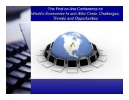 The First on-line Conference on World's Economies In and ... - ASERS