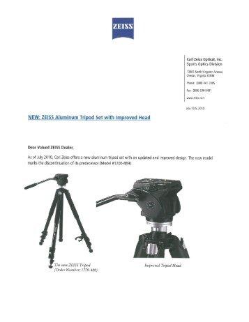 New Tripod Press Release - Euro Optics Ltd.