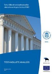 Töövaidluste analüüs - Sotsiaalministeerium
