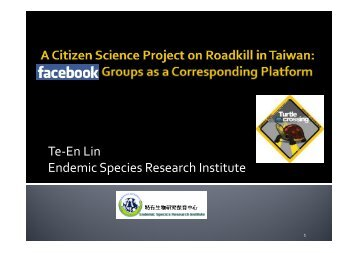 codata2012-F1-A citizen science project on roadkill in taiwan
