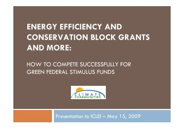 Presentation on the Energy Efficiency and Conservation Block Grant ...