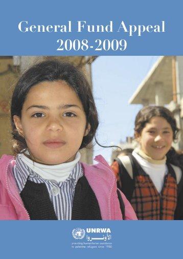 General Fund Appeal 2008-09 - Unrwa